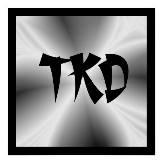 Impresión de plata del poster de TKD