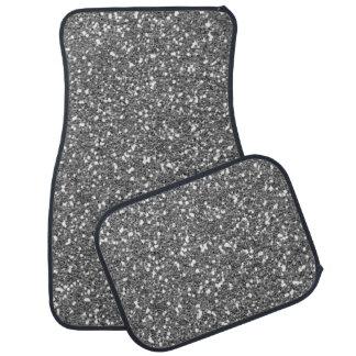 Impresión de plata fina de la textura del brillo alfombrilla de coche