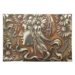Impresión de plata virginal de la tela de Nouveau  Mantel Individual