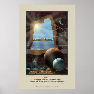 Impresión de Plutón Poster