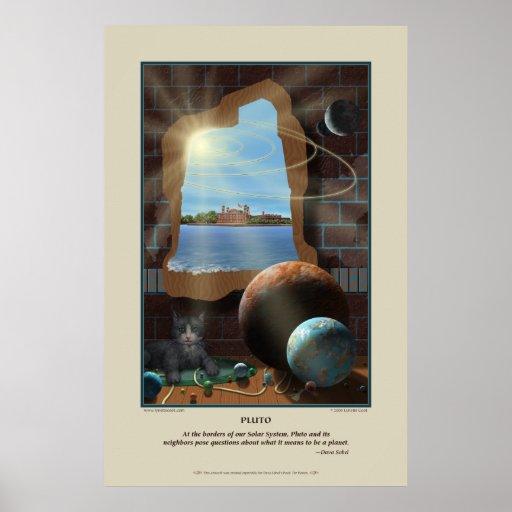 Impresión de Plutón Póster