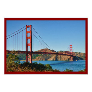 Impresión de puente Golden Gate de San Francisco