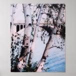 """""""Impresión de Quinsigamond 1988 del lago"""" Posters"""