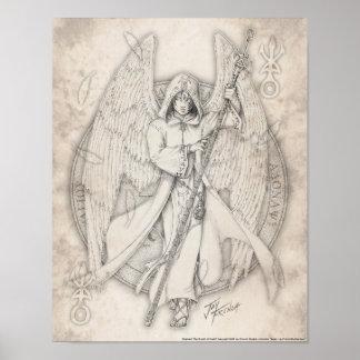 Impresión de Raphael del arcángel Póster