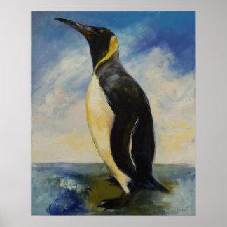 Impresión de rey pingüino poster