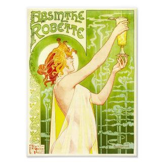 Impresión de Robette del ajenjo de Alfonso Mucha Fotografía