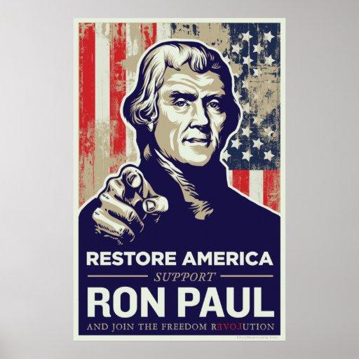 Impresión de Ron Paul Thomas Jefferson Impresiones