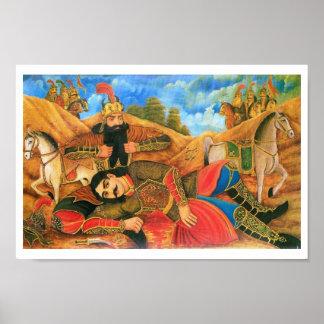 Impresión de Rostam y de Sohrab Impresiones