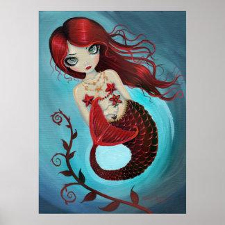 Impresión de rubíes del poster de la sirena