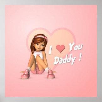 Impresión de Sadie del día de padres Poster