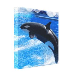 Impresión de salto de la lona de la ballena de la  lona estirada galerías