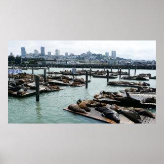 Impresión de San Francisco y del embarcadero 39 Póster