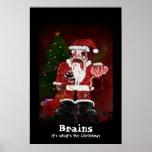 Impresión de Santa del zombi Posters