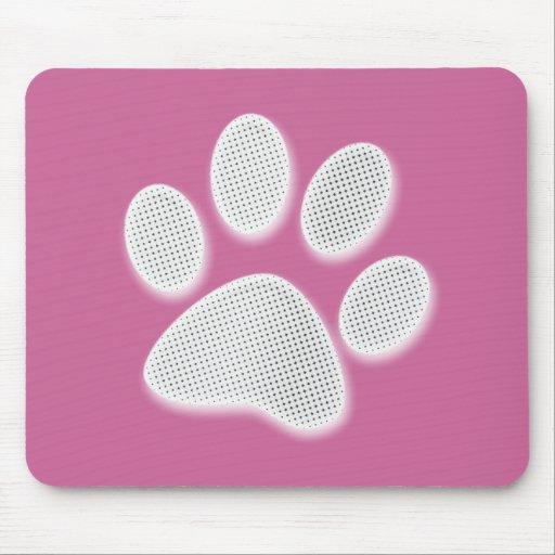 Impresión de semitono blanca/gris clara de la pata alfombrillas de ratón