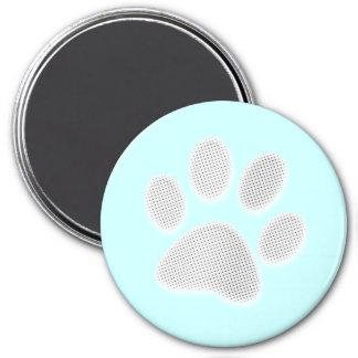 Impresión de semitono blanca/gris clara de la pata imanes de nevera