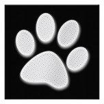 Impresión de semitono blanca/gris clara de la pata anuncio personalizado