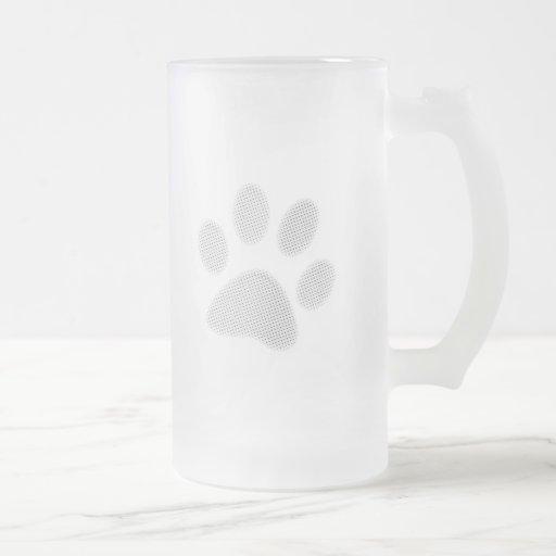 Impresión de semitono blanca/gris clara de la pata taza