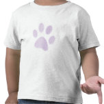Impresión de semitono purpúrea clara de la pata camiseta
