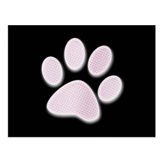 Impresión de semitono rosa clara de la pata postal