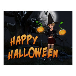 Impresión de Skye del feliz Halloween Posters