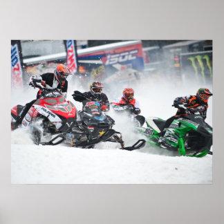 Impresión de Snowcross del Snowmobile Poster