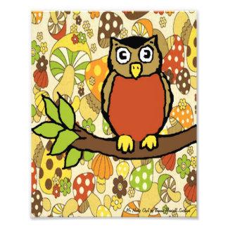 Impresión de Sr. Hooty Owl Baby Wall Cojinete