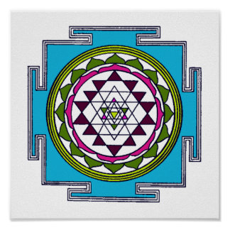 Impresión de Sri Yantra Poster