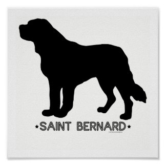Impresión de St Bernard Poster