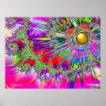 Impresión de Sun de la fantasía del arco iris Poster
