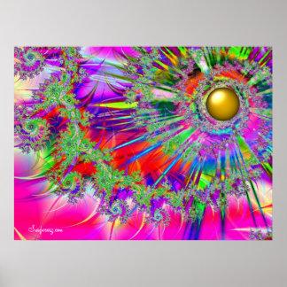 Impresión de Sun de la fantasía del arco iris Póster