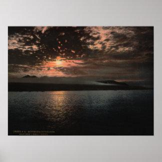 Impresión de Sun de medianoche Poster