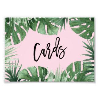 Impresión de tarjetas de las zonas tropicales cojinete