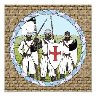 Impresión de Templar de los caballeros Cojinete