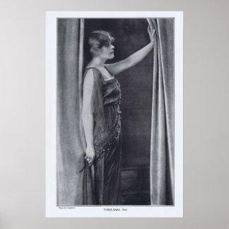 Impresión de Theda Bara Rotrogravure 1916 Posters