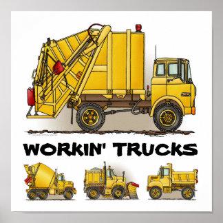 Impresión de trabajo del poster de la construcción