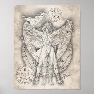 Impresión de Uriel del arcángel Póster