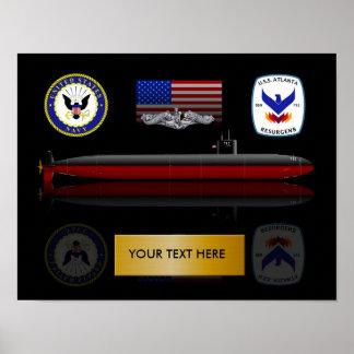 Impresión de USS Atlanta SSN 712 Póster