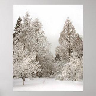 Impresión de Vancouver del invierno del poster del