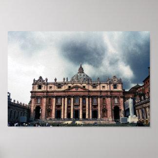 Impresión de Vatican del vintage Póster