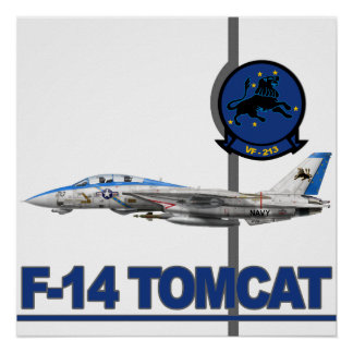 Impresión de VF-213 Blacklions Póster