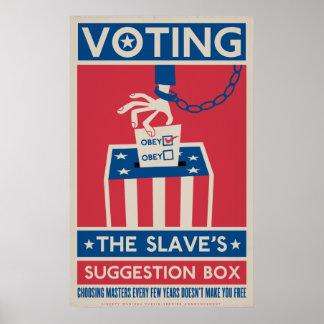 Impresión de votación póster