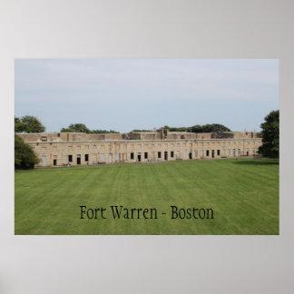 Impresión de Warren Boston Massachusetts del fuert Poster