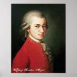 Impresión de Wolfgang Amadeus Mozart Póster