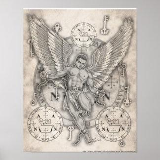 Impresión de Zadkiel del arcángel Poster