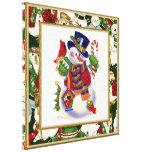 Impresión decorativa de la lona del muñeco de niev impresiones en lienzo estiradas