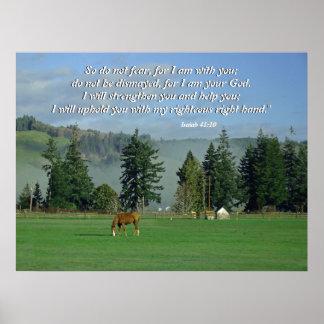 Impresión del 41:10 de Isaías de la escena del paí