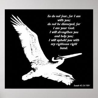 Impresión del 41:10 de Isaías del arte del pelícan