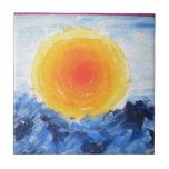 Impresión del aceite del Sun Azulejo Ceramica