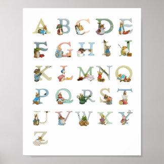 Impresión del alfabeto impresiones
