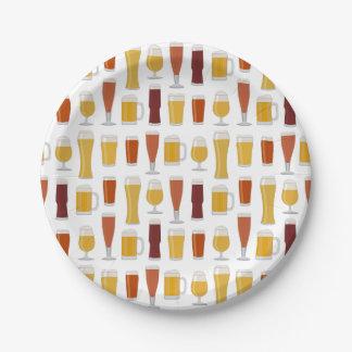 Impresión del amante de la cerveza plato de papel de 7 pulgadas